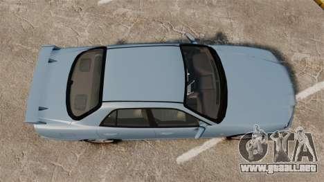 Nissan Skyline ER34 GT25 para GTA 4 visión correcta