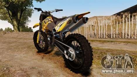KTM 450 EXC Monster Energy para GTA 4 visión correcta