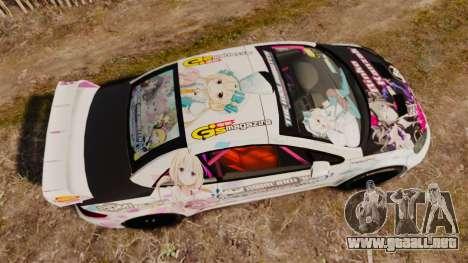 Peugeot 307 WRC The Idolmaster Cinderella Girls para GTA 4 visión correcta