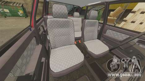 VAZ-2109 Satélite para GTA 4 vista desde abajo
