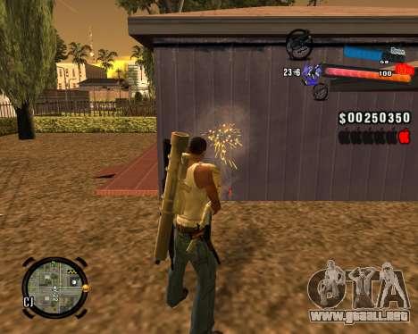 El nuevo C-HUD para GTA San Andreas tercera pantalla
