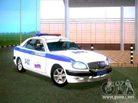 GAZ Volga 3111 DPS para GTA San Andreas vista posterior izquierda