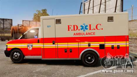 Brute Speedo FDLC Ambulance [ELS] para GTA 4 left