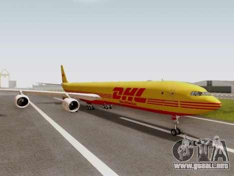 Airbus A340-600F DHL Buffalo para la visión correcta GTA San Andreas