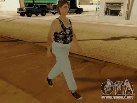 Una mujer de edad avanzada v.2 para GTA San Andreas sucesivamente de pantalla