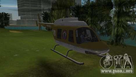 Helicóptero de la policía de GTA VCS para GTA Vice City left