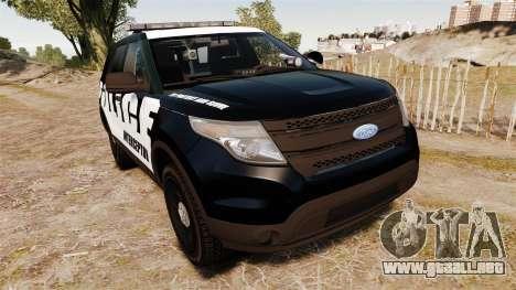 Ford Explorer 2013 Police Interceptor [ELS] para GTA 4