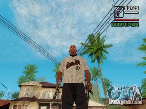 La subametralladora UZI para GTA San Andreas sexta pantalla