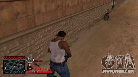 C-HUD Yakuza para GTA San Andreas segunda pantalla