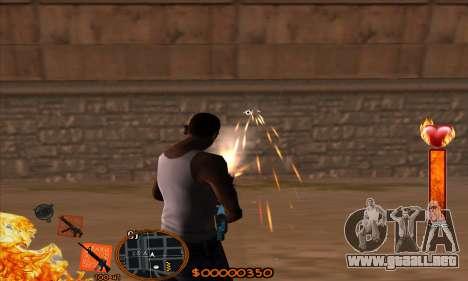 C-HUD Fire para GTA San Andreas tercera pantalla