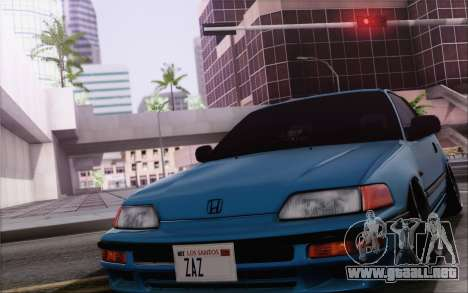 Honda CRX Low Gang para visión interna GTA San Andreas