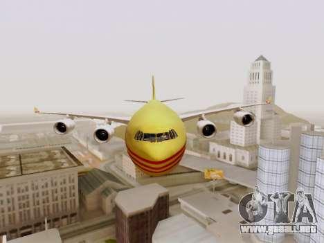 Airbus A340-600F DHL Buffalo para visión interna GTA San Andreas