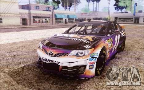 Toyota Camry NASCAR Sprint Cup 2013 para visión interna GTA San Andreas