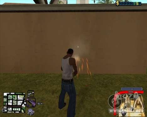 C-HUD by Mark Osborne para GTA San Andreas segunda pantalla