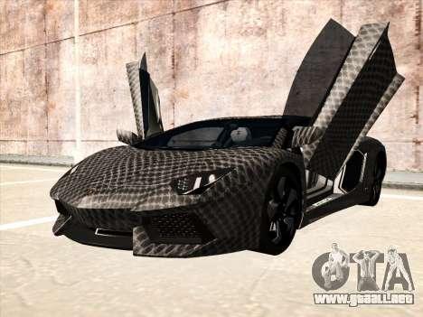 Lamborghini Aventador LP700-4 2013 para GTA San Andreas vista hacia atrás