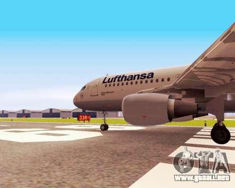 Airbus A320-200 Lufthansa para la visión correcta GTA San Andreas