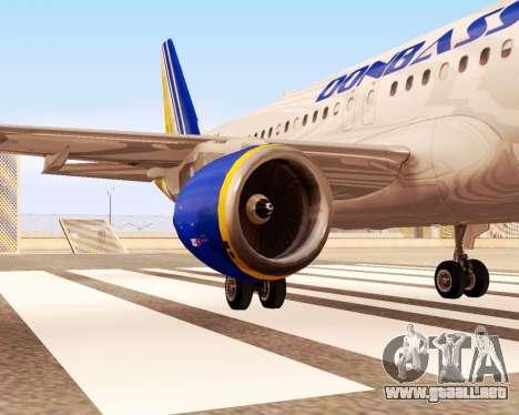 Airbus A320-200 Donbassaero para la visión correcta GTA San Andreas