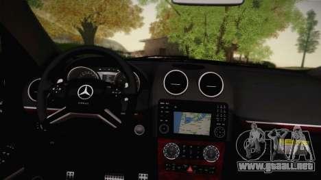 Mercedes-Benz ML63 para GTA San Andreas vista hacia atrás