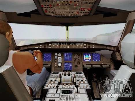 Airbus A340-600F DHL Buffalo para vista inferior GTA San Andreas