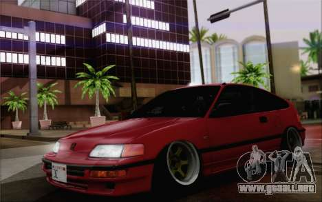 Honda CRX Low Gang para la visión correcta GTA San Andreas