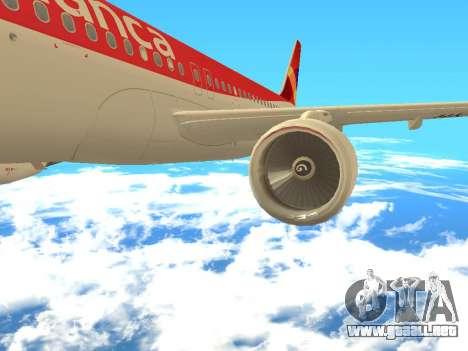 Airbus A320 Avianca Columbia para la visión correcta GTA San Andreas