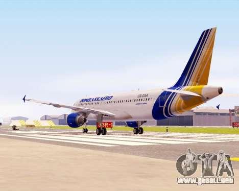 Airbus A320-200 Donbassaero para GTA San Andreas vista posterior izquierda