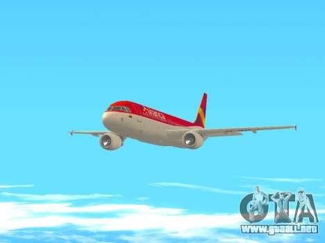 Airbus A320 Avianca Columbia para visión interna GTA San Andreas