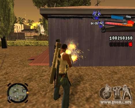 El nuevo C-HUD para GTA San Andreas segunda pantalla