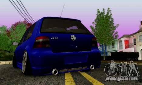 Volkswagen Golf R32 para la visión correcta GTA San Andreas