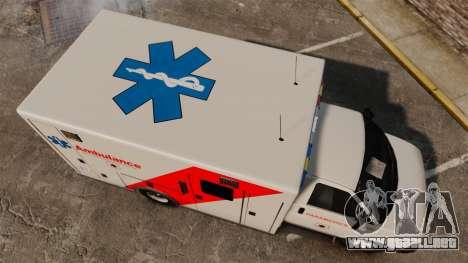 Brute Speedo RLMS Ambulance [ELS] para GTA 4 visión correcta