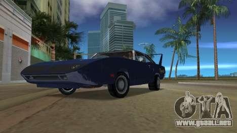Plymouth Superbird para GTA Vice City vista lateral izquierdo