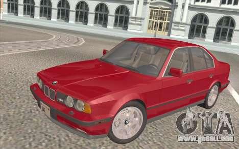 BMW M5 E34 1991 NA-spec para GTA San Andreas interior