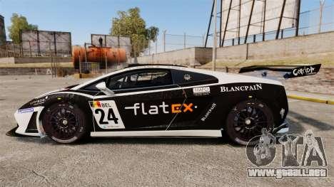 Lamborghini Gallardo LP560-4 GT3 2010 Flatex para GTA 4 left
