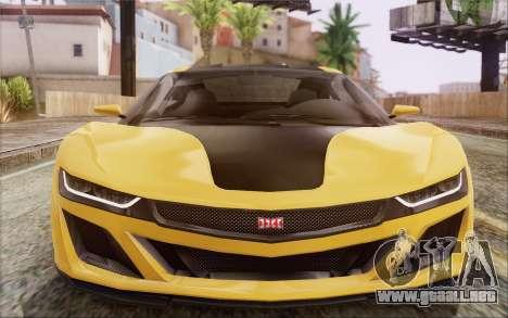 GTA V Dinka Jester IVF para GTA San Andreas vista hacia atrás