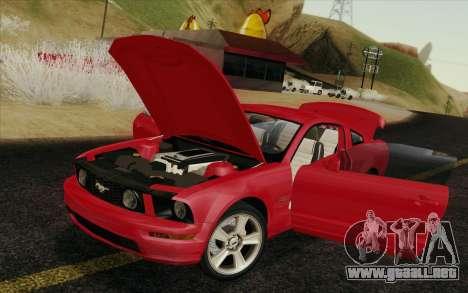Ford Mustang GT 2005 para GTA San Andreas interior
