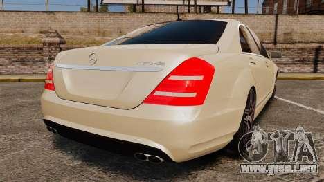Mercedes-Benz S65 (W221) AMG para GTA 4 Vista posterior izquierda
