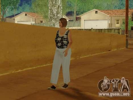 Una mujer de edad avanzada v.2 para GTA San Andreas sexta pantalla
