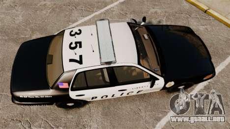 Ford Crown Victoria LCPD [ELS] para GTA 4 visión correcta