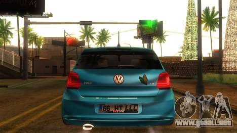 Volkswagen Polo para GTA San Andreas vista posterior izquierda