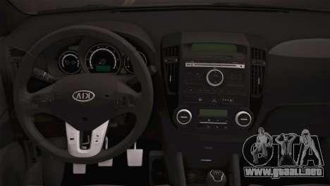 Kia Ceed 2011 para GTA San Andreas vista hacia atrás