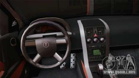 Pontiac GTO 2005 para GTA San Andreas vista hacia atrás
