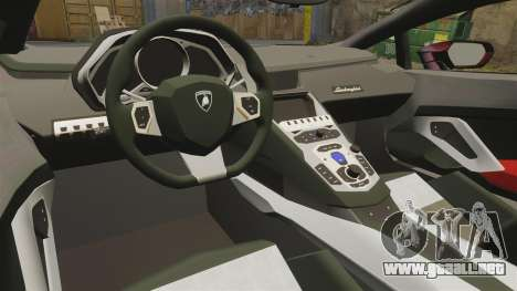 Lamborghini Huracan LP610-4 2014 Red Bull para GTA 4 vista interior