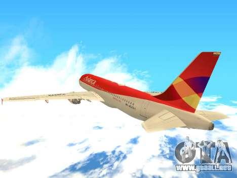 Airbus A320 Avianca Columbia para GTA San Andreas vista hacia atrás