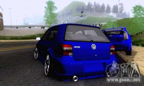 Volkswagen Golf R32 para GTA San Andreas vista hacia atrás