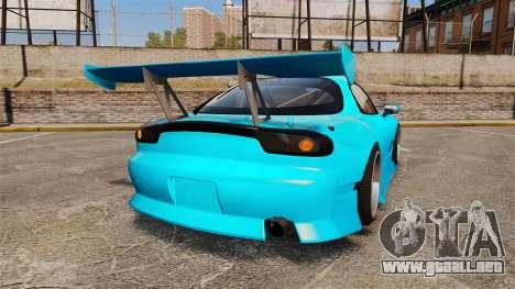 Mazda RX-7 Super Edition para GTA 4 Vista posterior izquierda