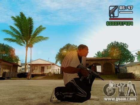 La subametralladora UZI para GTA San Andreas segunda pantalla