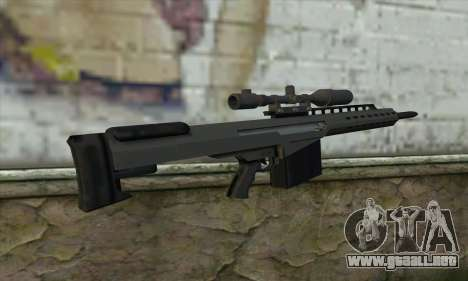 GTA V Heavy sniper para GTA San Andreas segunda pantalla