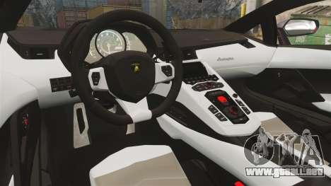 Lamborghini Aventador LP700-4 2012 [EPM] Miku 2 para GTA 4 vista interior