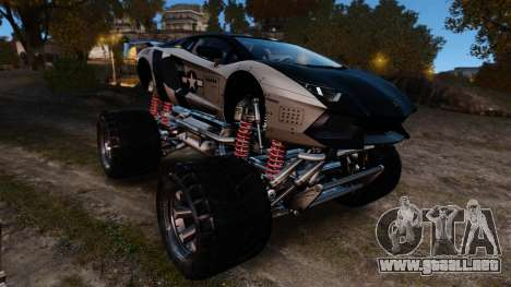 Lamborghini Aventador LP700-4 [Monster truck] para GTA 4 vista interior