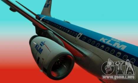 Airbus A319 KLM para visión interna GTA San Andreas